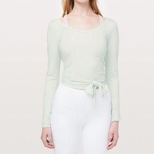 Sale!!! Lululemon It's a Tie Long Sleeve Wrap Top